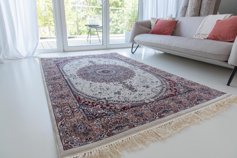 Million 013 beige rose (krém-terra)Perzsa szőnyeg 60x220cm