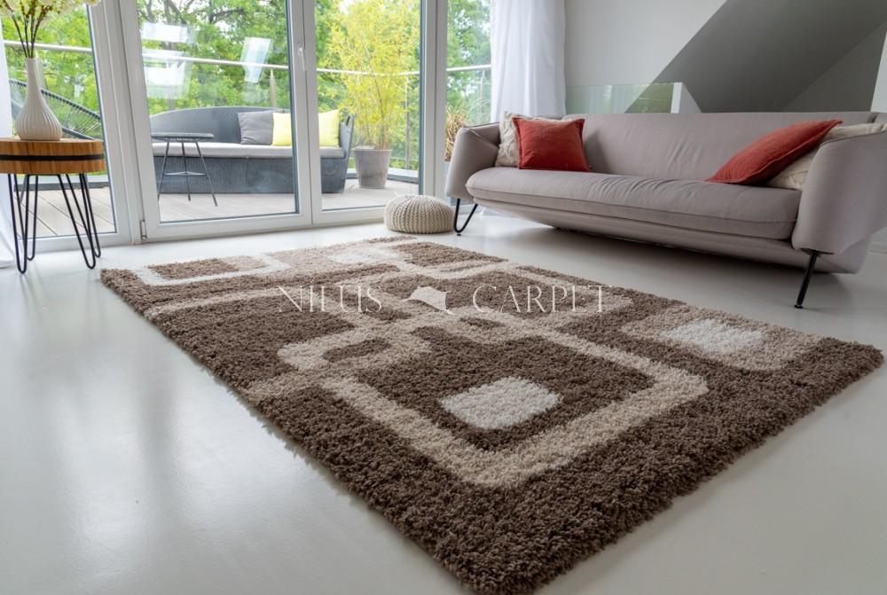 Manhattan Shaggy 471 brown (barna) szőnyeg 160x230cm