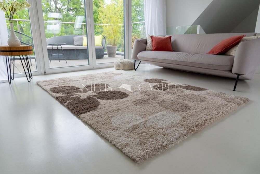 Manhattan Shaggy 473 beige (bézs) szőnyeg 60x110cm