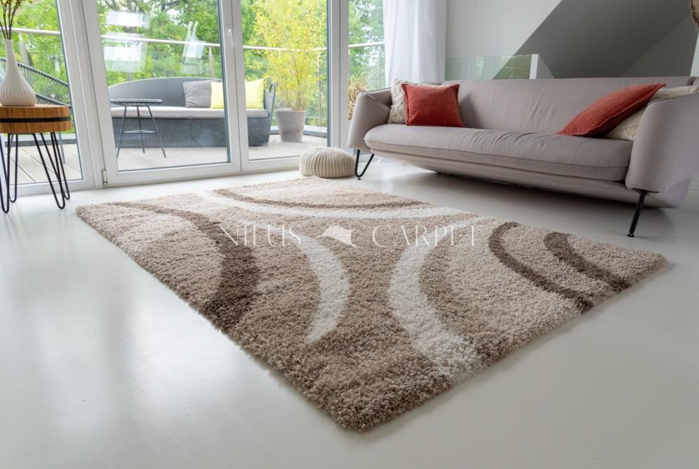 Manhattan Shaggy 479 beige (bézs) szőnyeg 60x110cm