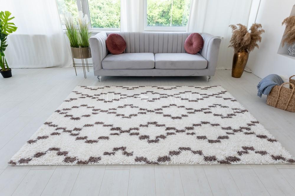 Berber Luxury 087 light brown-cream (krém-barna) szőnyeg 60x200cm