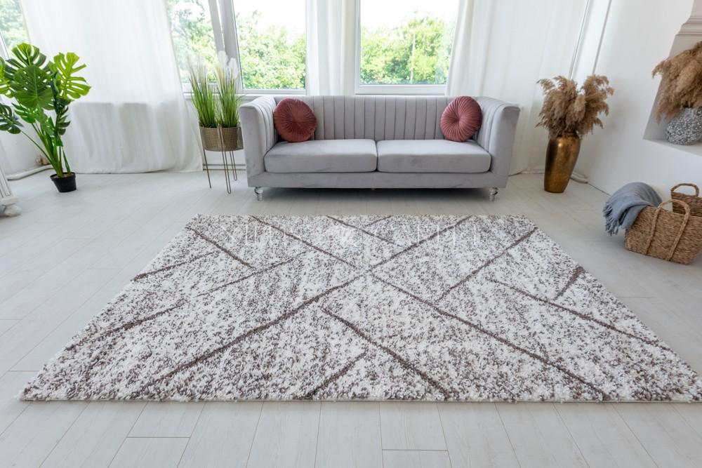 Berber Luxury 307 light brown-cream (krém-barna) szőnyeg 60x200cm