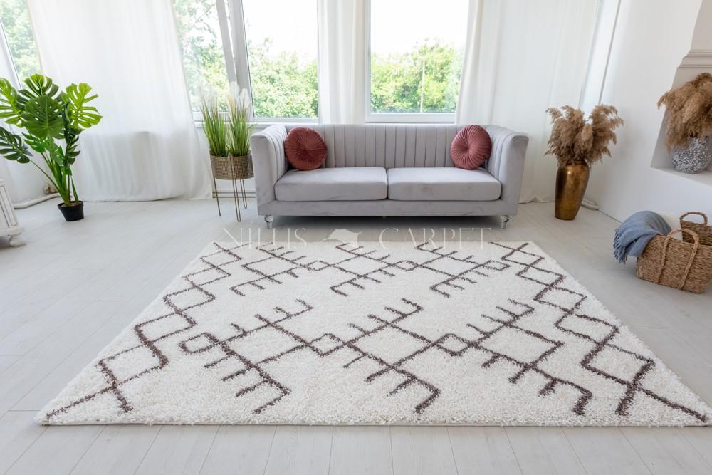 Berber Luxury 415 light brown-cream (krém-barna) szőnyeg 60x200cm