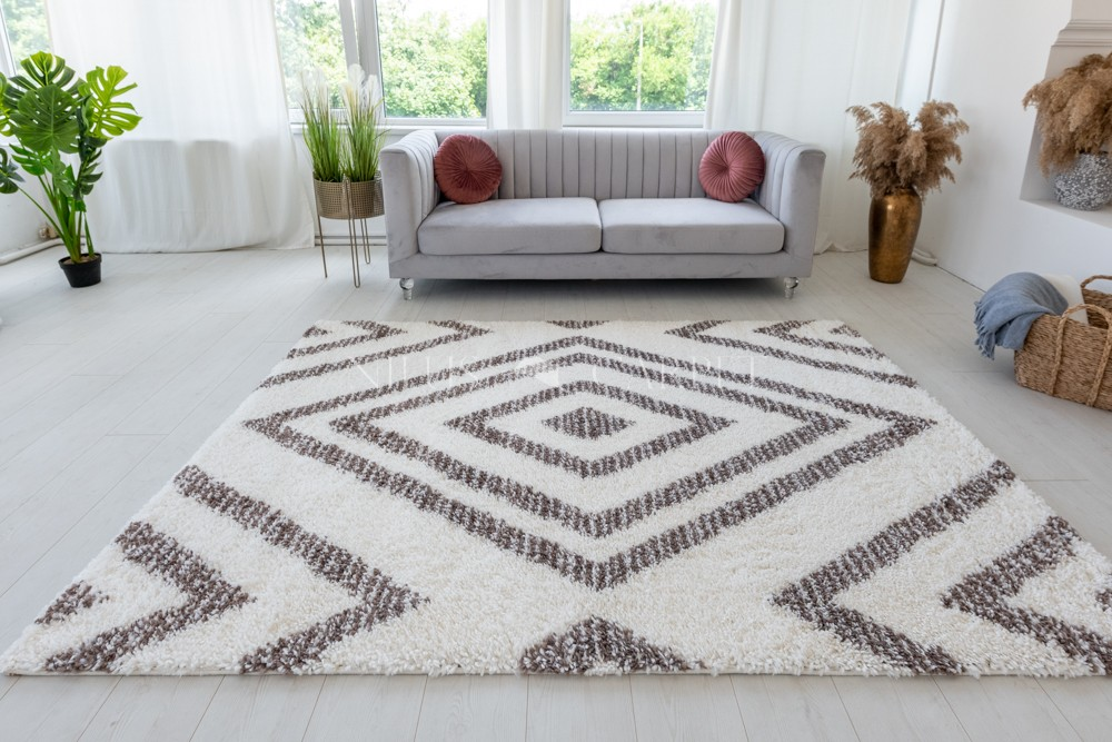 Berber Luxury 487 light brown-cream (krém-barna) szőnyeg 60x110cm