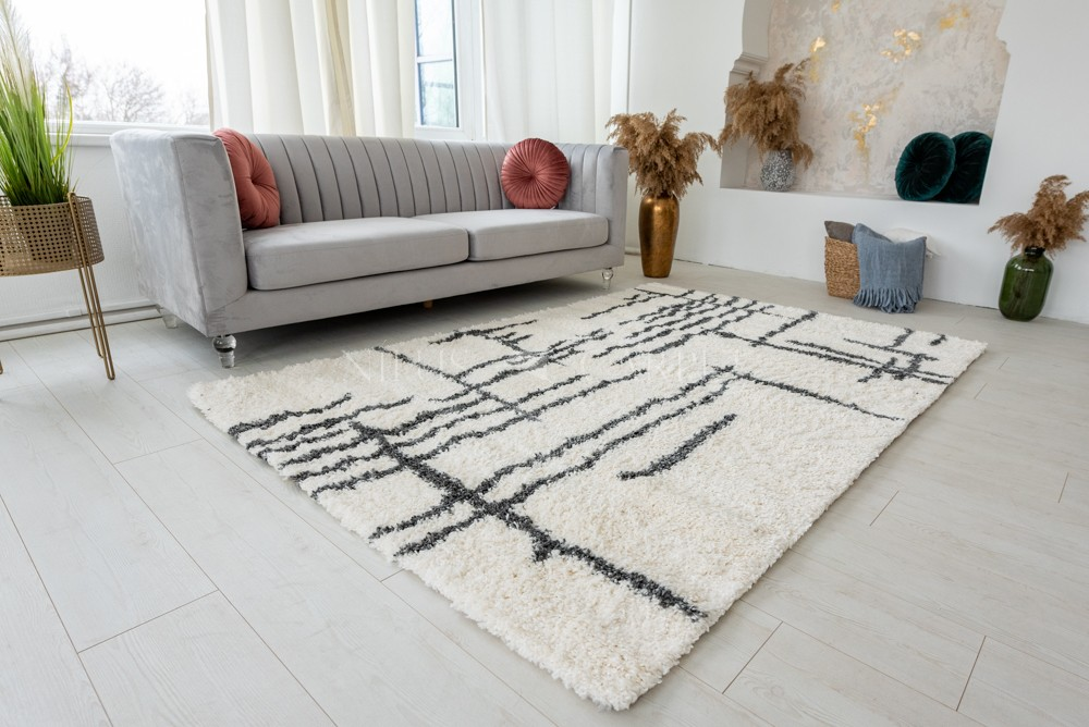 Berber Luxury 8708 antracit-cream (szürke-krém) szőnyeg 120x170cm