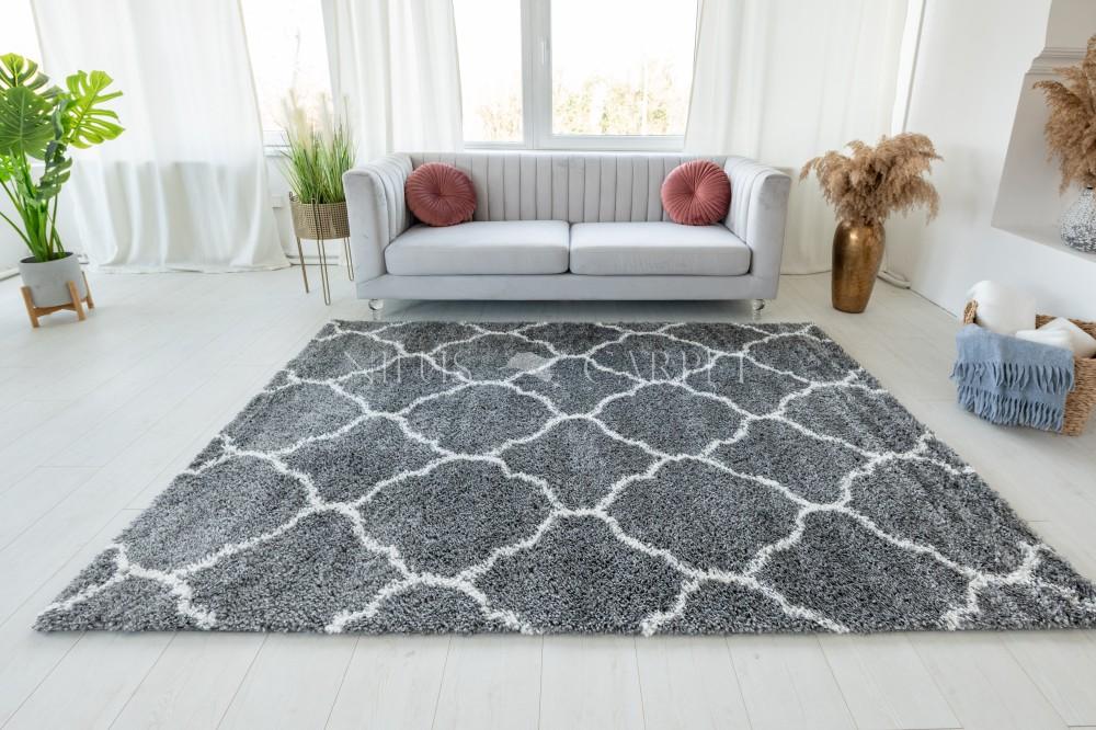 Berber Luxury 9327 antracit (krém-szürke) szőnyeg 60x200cm