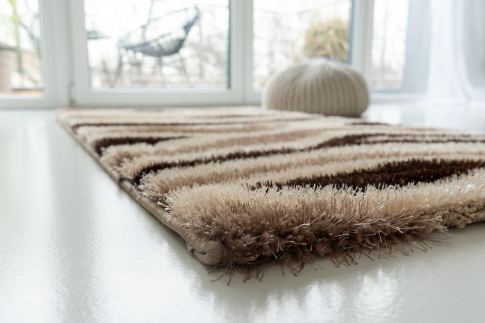 New York Shaggy 3d hullámos beige (bézs) szőnyeg 80x150cm