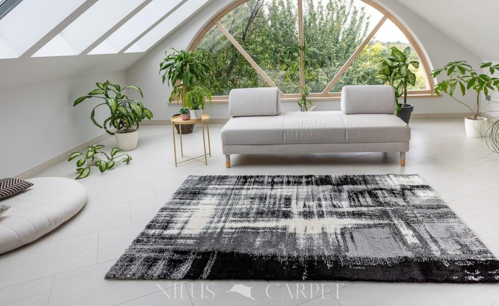 Puder Art 3808 gray white  (szürke)  szőnyeg 160x230cm