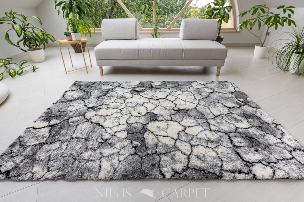 Puder Art 6467 white Gray  (szürke) szőnyeg 150x230cm