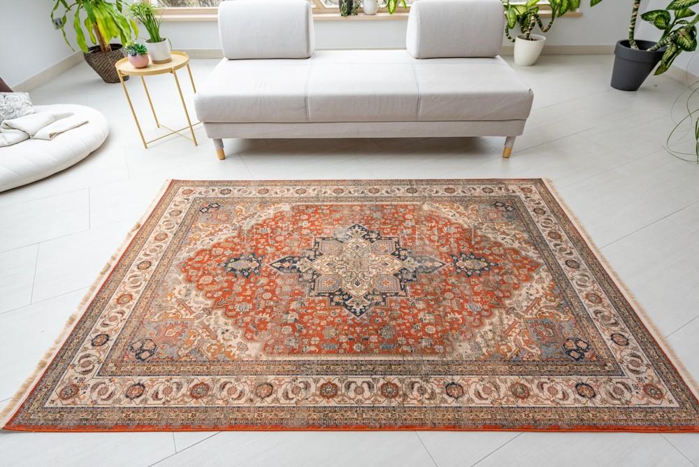 Exkluzív Perzsa Art Heriz Terra szőnyeg 100x200cm