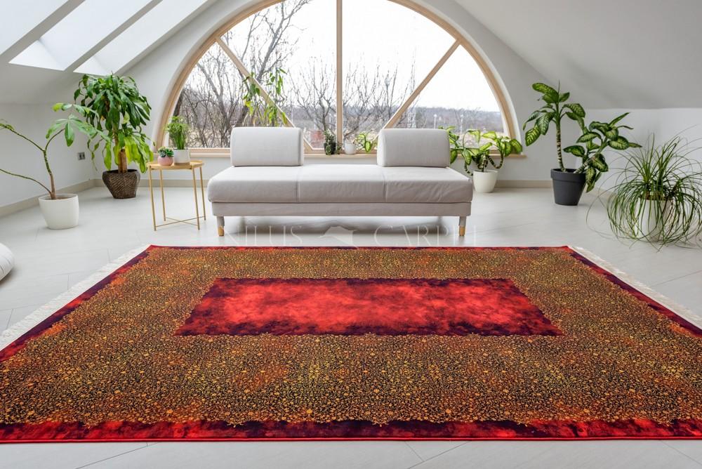 Exkluzív Perzsa Art Salazar Fire Red ( bordó-piros-mustar) szőnyeg 70x100cm