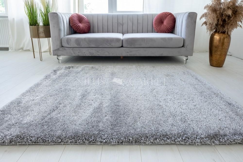 Pure Luxury Light gray (világos szürke) shaggy szőnyeg 160x220cm